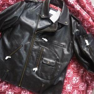 Brand New Zara Man Faux Leather Motorcycle Jacket